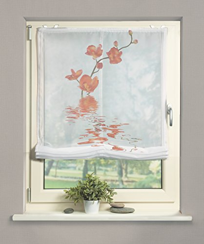 Home fashion 69812-775 Raffrollo Voile, 140 x 120 cm, orange
