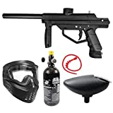 Maddog JT Stealth Semi-Automatic .68 Caliber Bronze HPA Paintball Gun Starter Package - Black