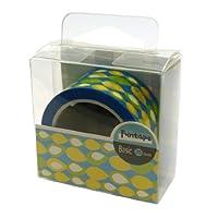 ファンテープ 25mm【しずく青黄】 R026-18