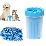Sunshine smile Limpiador de Huellas de Perro,Limpiador de Patas de Perro,Lavadora de pies de Perro,Taza de Limpieza para Mascotas,Limpiador de Patas para Perro Gato,Taza de pie para Mascotas (Azul)