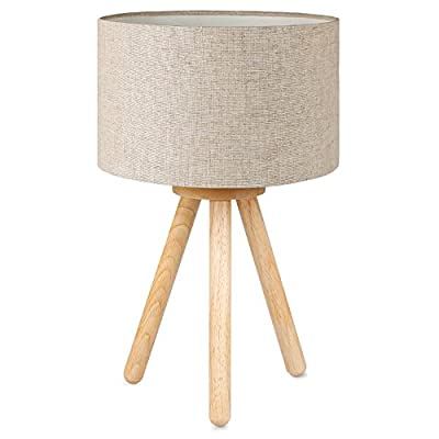 Tripode en Madera de Árbol de Caucho: El trípode de la lámpara BL1002 conserva el color y las vetas de la madera, cuya estructura lisa agrega a la lámpara un toque especial. Diseño clásico y simple que se integra perfectamente en cualquier estilo de ...