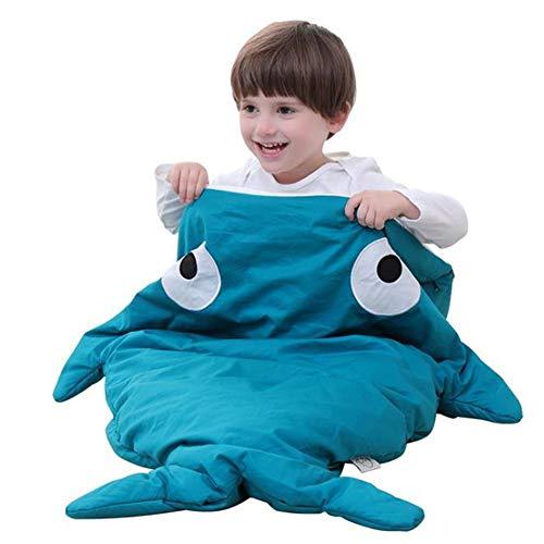 WUQIANG Babyschlafsack Großer Baby-Haifisch-Schlafsack, maschinenwaschbar (Color : Green)