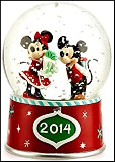 Disney 2014 Mickey Mouse & Minnie Mouse Exclusive Snow Globe