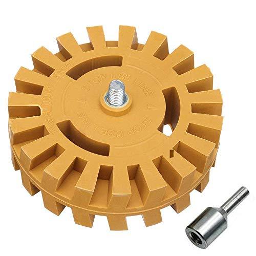 Gasea - Disco de desagüe de goma de 26 mm de grosor, disco de pelusa, disco de despegar para eliminar el coche, pegatinas de rayas, color amarillo