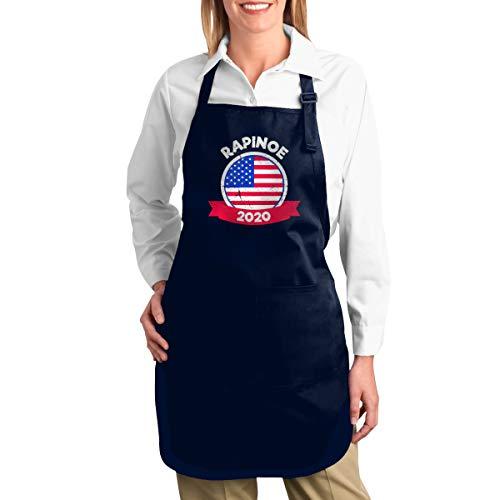 C & J Rapinoe 2020 verstelbare bib apron met 2 zakken Eén maat navy