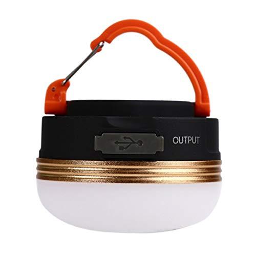 Extérieure LED Disque Super Lumineux Suspendu Lumière Économie D'énergie Tente De Camping Lumière Camp Mine Lumière Mode Réglage - Orange