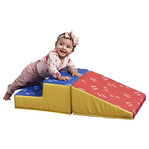 ECR4Kids SoftZone Junior Little Me Play Climb and Slide - Indoor Active Play Structure for Babies and Toddlers - Soft Foam Play Set, Hands and Feet (2-Piece)