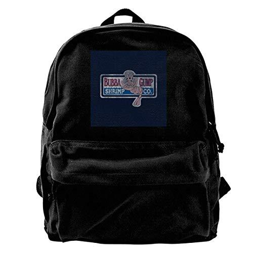 Yuanmeiju Mochila de lona Forrest Gump Bubbas Shrimp Co Rucksack Gym Hiking Laptop Shoulder Bag Daypack for Men Women