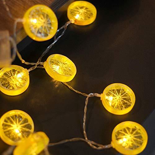 String Lights LED with Lemon Slices Edison Utdoor Hanging Lights Outdoor Lighted Holiday Displays Patio Christmas Decoration Room Battery Box Fruit Lights