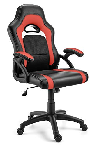 Comfortable Office Chair with Lumbar Support | Ergonomic Double Cushioned Desk Chair...