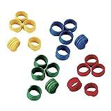 Anillas en espiral 16mm, plástico, diversos colores, envase de 100 uds.