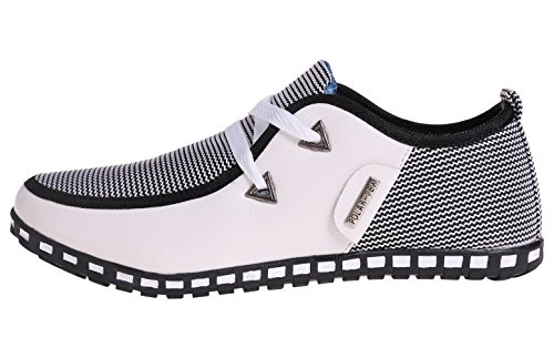 The New Style men's casual shoes, White, EU-42 US-8.5