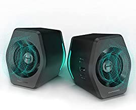 Edifier G2000 32W PC Computer Speakers for Gaming Desktop PC Laptop Mac Computer Woofer Speakers Bluetooth USB 3.5mm AUX Inputs RGB Lights Multimedia Speakers Black