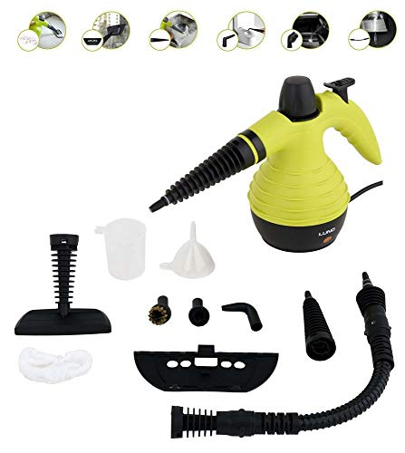 Dampfreiniger Tragbarer Handdampfreiniger Reinigungsgerät leistungsstark, multifunktional, bis 110°C 10 Tlg. Set