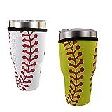 WJA Neopren-Kühler für 91,4 ml Trinkgläser und Mischflaschen, beleuchtete Dosen-Kühler, Coolie-Abdeckung, Griff, Baseball
