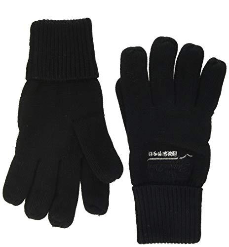 Superdry Herren ORANGE LABEL GLOVE Handschuhe, Schwarz (Black 02A), Einheitsgröße