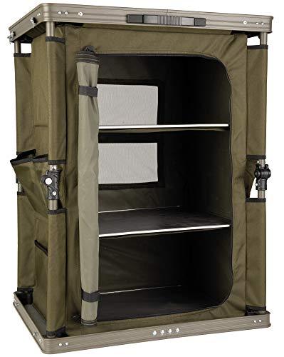 Fox Session Storage 60x48x80cm - Tackleschrank für Karpfenzelte, Schrank für Angelzelte, Zelt Regal für Tackle & Kochzubehör