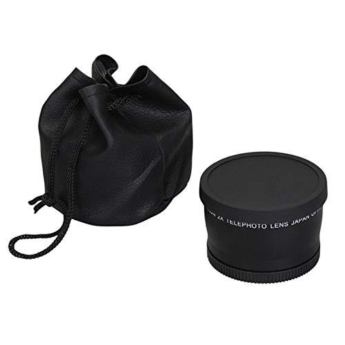 CNmuca Lente telefoto 52mm 58mm 2.0x para Nikon D90 D80 D700 D3000 D3100 D3200 D5000 D5100 D5200 18-55mm Câmeras DSLR pretas