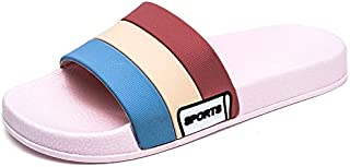 Stylish and Comfortable Slippers Leisure Sandals for Men Indoor Slides Slip On Open Toe PU Leather Anti-Slip Wear Resistant Shower Slippers Breathable wear-Resistant Slippers