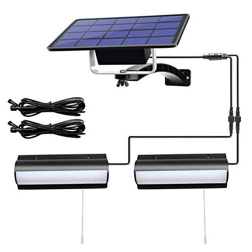 MJJLT Luces Solares para Exteriores 2 En 1 Luz De Pared para Pasillo con Energía Solar con Cordón De Tracción IP65 Impermeable Auto Dusk To Dawn Porche Luces para Puerta De Entrada Cobertizo Patio