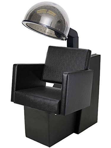 BR Beauty Aria Hair Dryer Chair with Dryer Combination for Salons and Stylists, Modern European Design, Extra Hot 980 Watt Dryer, 4 Setting Temperature Control with Timer, OD-6819DC/HL-1500