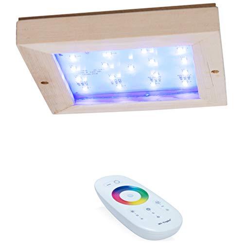 SULENO Saunalampe LUNA FARBLICHT LED RGB Saunaleuchte farbig mit Fernbedienung