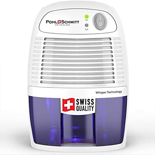 Pohl Schmitt Electric Dehumidifiers for Home, 2200 Cubic Feet (225 sq ft) Portable Compact 17 oz Capacity Mini Quiet Dehumidifier for Bedroom, Bathroom, RV, Laundry Room or Closet