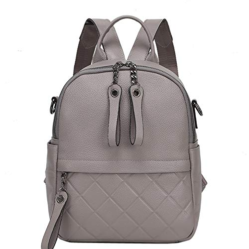 Angle-w stylish design,Simple travel, Leather Vintage Women Backpack Graceful Black Casual Holiday Knapsack Casual Travel Bags Girl's bag White Let us go further