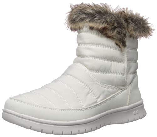 Ryka Women's Suzy Ankle Boot, White, 9.5 M US