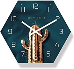 """☆ 29.5x34cm, thickness: 7.2mm thick, lightweight and easy to hang. ☆ There is no """"tick"""", no noise, this silent wall clock will not disturb you when you are reading, working, thinking, talking or sleeping. ☆ It can be used with furniture, very suitabl..."""