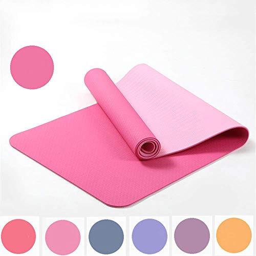 ZMY - Esterilla de yoga de 6 mm, 10 mm, antideslizante,