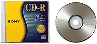 Sony 1-pack CDR Recorder Media 650MB 74min 12x with Jewel Case (Discontinued by Manufacturer)