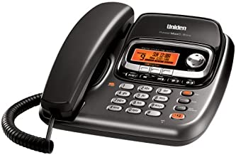 Uniden TRU9488 Expandable Corded/Cordless Combination System with Digital Answering System, Dual Keypad, and Call Waiting/Caller ID