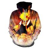 TLLW Sudadera con capucha con estampado 3D de Naruto, unisex, para hombre, mujer, niños y niñas, con capucha Hollister XXS-6XL