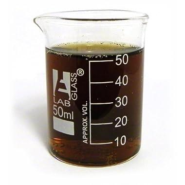 Eisco Labs Beaker Shot Glasses - 1.6oz/50mL - Lab Quality Borosilicate Glass - Set of 4
