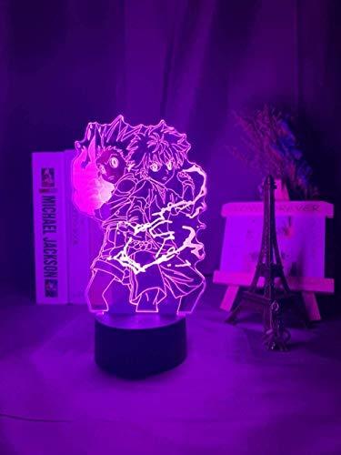 Tatapai 3D Illusion Lamp Led Night Light Gon and Killua Figure Anime Hunter X Hunter for Kid Room Decor Kid Gift Hxh Bedside Children s Room Decoration