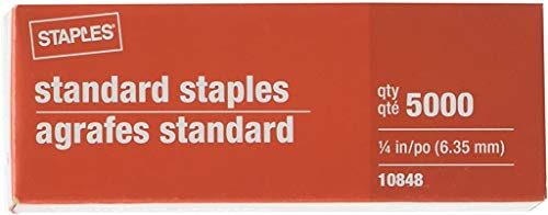 Staples Standard Staples 5 Boxes...