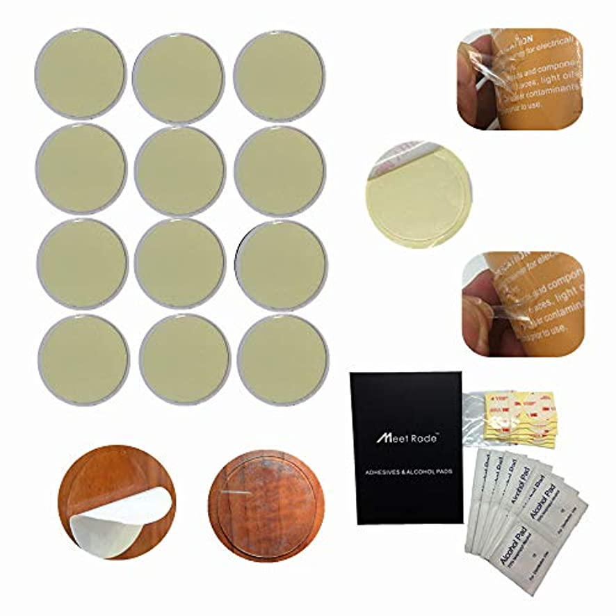 MeetRade Super Strong Double Sided Mounting Tape Adhesive Pads Disc Acrylic Glue Clear 34mm 1.39'' INCH (16PACK)