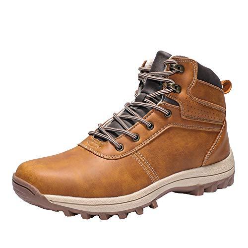 Trekking Botas Hombre Impermeables Zapatillas de Senderismo Deportes Exterior Sneakers Marrón 43