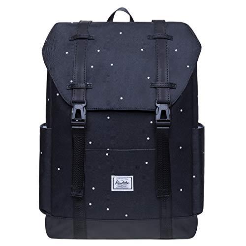 KAUKKO Schule & Freizeit Moderner Tagesrucksack aus Polyester für Uni Büro - Daypack für 14