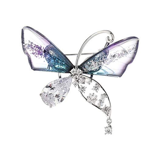 Genérico 1 Pza Broche Decorativo de Moda Ramillete Mariposas Broche Regalo (Plata)
