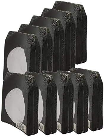 BestDuplicator Black Cd DVD Paper Media Sleeves Envelopes with Flap and Clear Window 1000 Sleeves product image