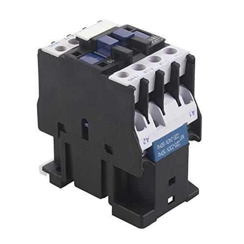 SovelyBoFan Potencia Contactor de CA 1NO CA 220V 50 / 60Hz Bobina Relé de Arranque del Motor 32A 3-Phase-Pole