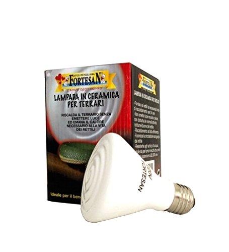 Lampada in ceramica Fortesan - Riscaldante, infrarossi, non emette luce, in vari wattaggi (40 Watts)