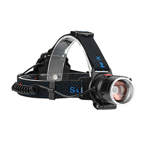 KDMB Linterna Frontal LED, Linterna Frontal Recargable, Linterna Frontal LED Supfire Hl08, Linterna Frontal con Zoom, Linterna Frontal, Linterna para Fenix Sofirn Nicron Olight, lámpara