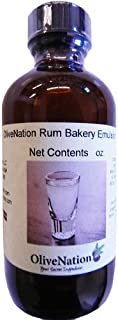 OliveNation Rum Emulsion - Size of 4 oz - Kosher labeled, Gluten free and soluble in water Emulsion - Perfect for Rum Cakes and All Baked Goods as Natural Flavoring