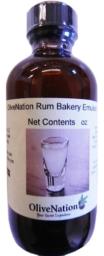 OliveNation Rum Baking Emulsion, Water Soluble Non-Alcoholic Kosher, Gluten Free, Vegan Flavoring - 4 ounces