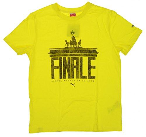 PUMA BVB Final Berlin Tee T-Shirt Kinder Kids Borussia Dortmund 09, Bekleidung:152