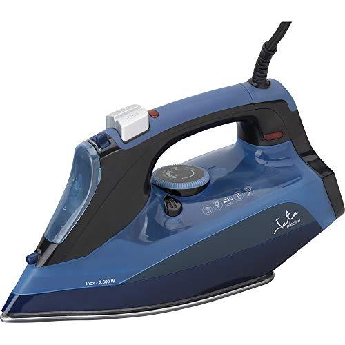 Jata Plancha de vapor PL501N - Suela inox con 450 salidas de vapor y diseño 3D, Vapor vertical, Antigoteo, Autolimpieza, Antical permanente, Vapor 40 g/min, 2600 W de potencia
