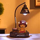 Kimkoala Anime One Piece Luffy Figures, Cute Cartoon Anime One Piece Luffy Figure with Night Lamp Light Action Figure Toys for Children Gift for Home Garden Decoration (Choppe)